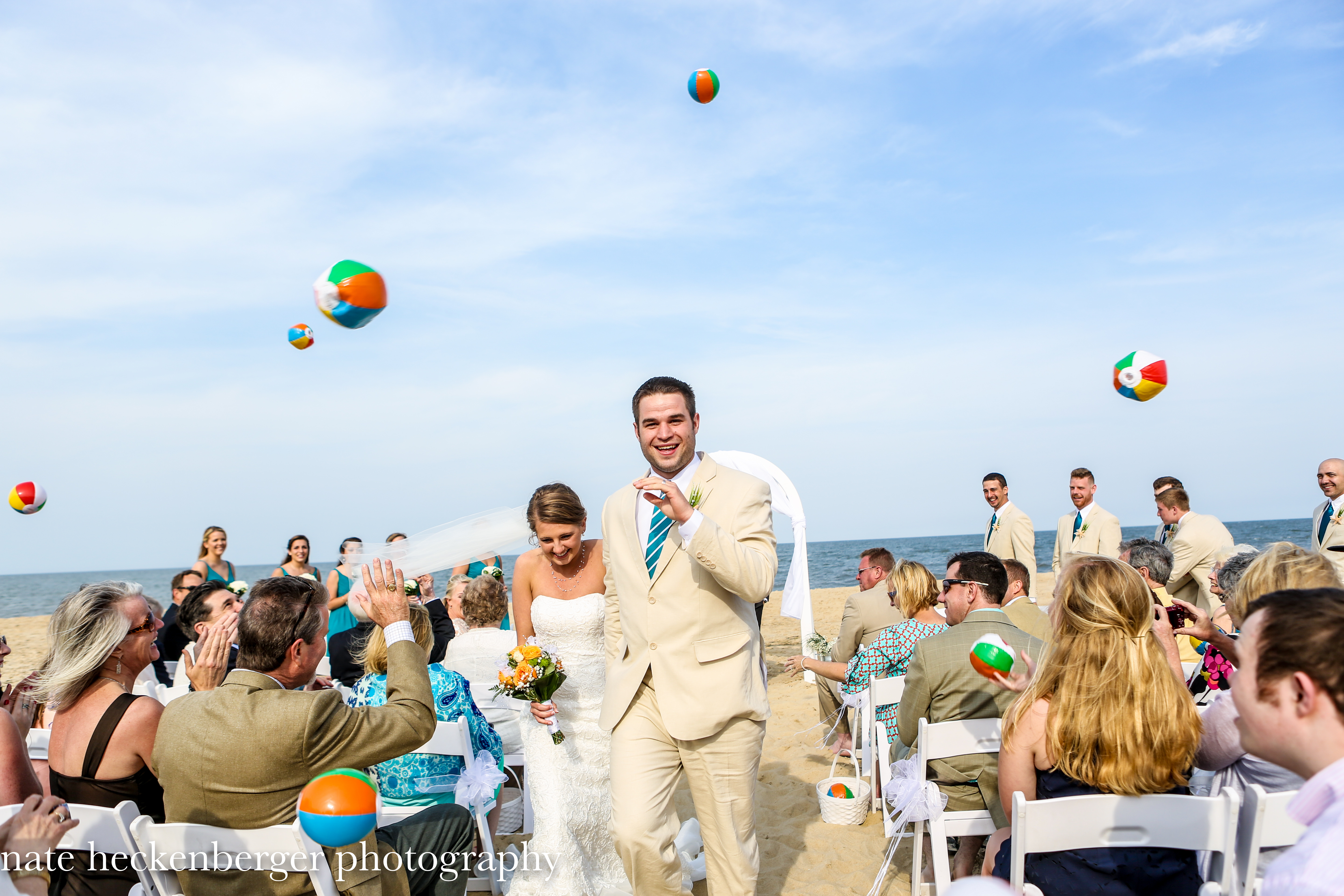 Beach Wedding A Spider Crawling Up One Of The Layers Lindsay S Dress Couldn T Derail Beautiful Ceremony Setting Tone For Wonderful Party At